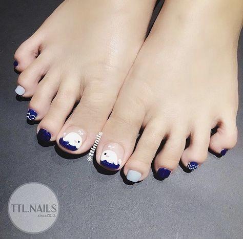 Nail móng chân dễ thương 19