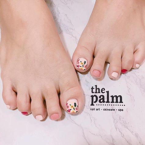 Nail móng chân dễ thương 23