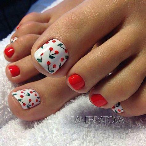 Nail móng chân dễ thương 24