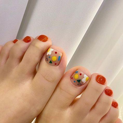 Nail móng chân dễ thương 26