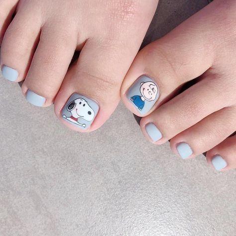 Nail móng chân dễ thương 3