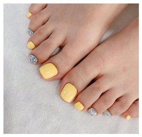 Nail móng chân dễ thương 4