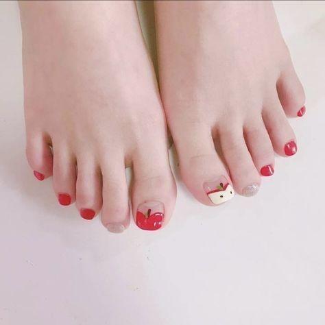 Nail móng chân dễ thương 6