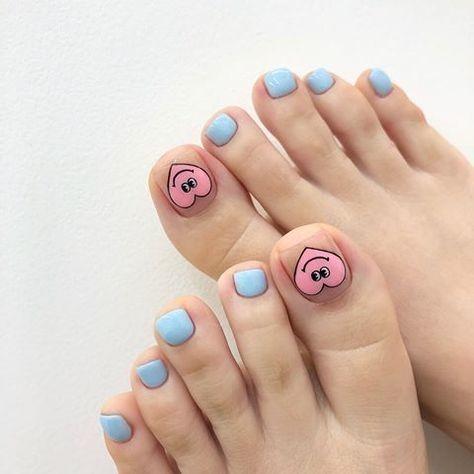 Nail móng chân dễ thương 7