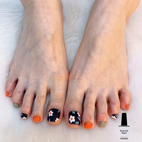 Nail móng chân dễ thương 8