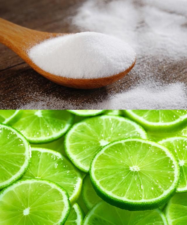 Chanh và baking soda ngoài việc loại bụi, cặn bẩn thì nó còn có thể hỗ trợ bạn làm sáng móng tay bị đổi màu hay ố vàng