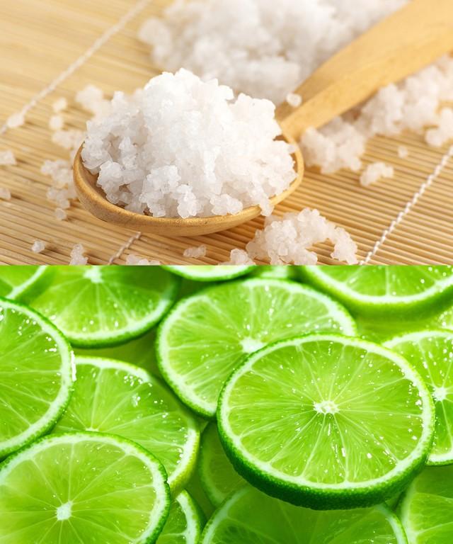 Chanh và muối giúp móng trở nên trắng hồng hơn ngoài ra còn giúp móng chắc khỏe sáng bóng và không bị gãy