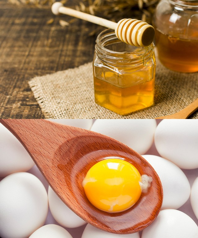 Protein và lưu huỳnh trong lòng đỏ trứng sẽ giúp móng tay chắc khỏe mật ong bổ sung độ ẩm giúp tẩy sạch các vết ố vàng