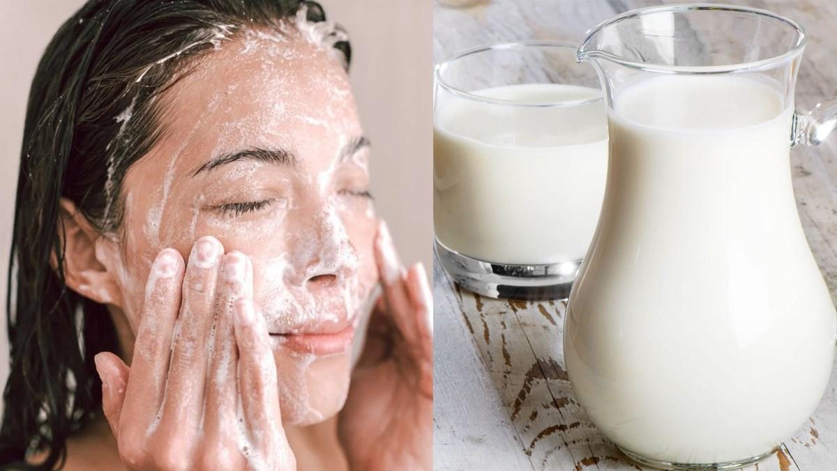 Làm căng da mặt tự nhiên với sữa tươi