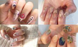 5 kiểu nail họa tiết tranh hoa theo phong cách Nhật Bản