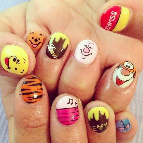 nail màu vàng hoạt hình