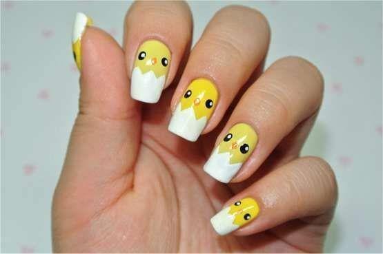nail màu vàng hoạt hình_10