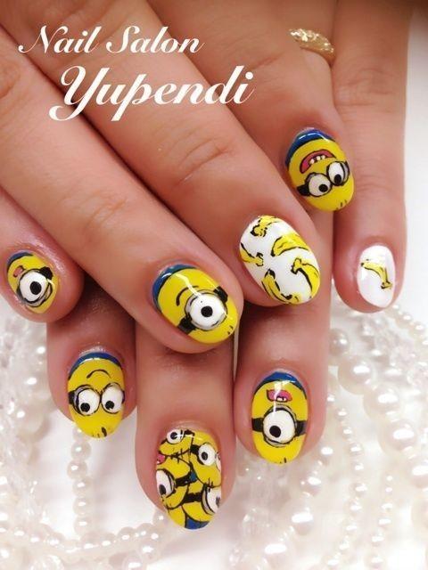 nail màu vàng hoạt hình_11