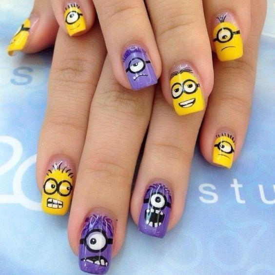 nail màu vàng hoạt hình_12