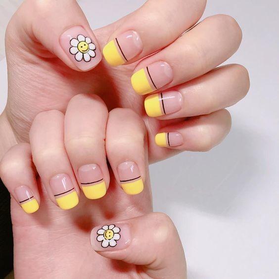 nail màu vàng hoạt hình_4