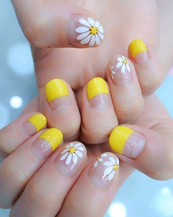 nail màu vàng hoạt hình_7