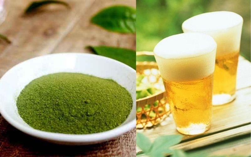 Cách trị mụn bằng bia và trà xanh