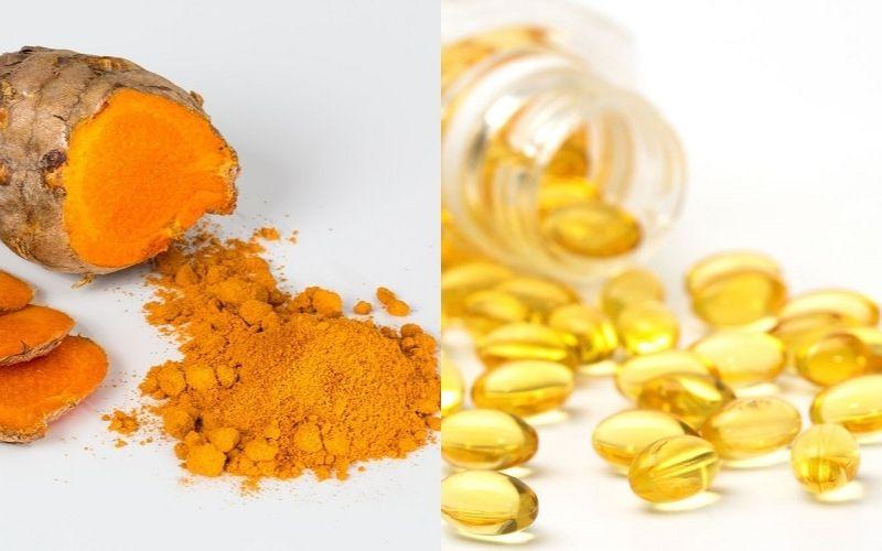Trị mụn bằng vitamin E và nghệ