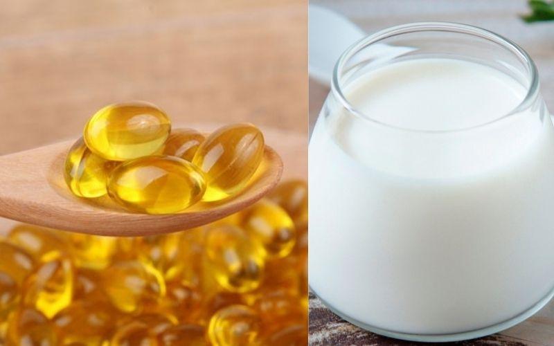 Trị mụn bằng vitamin E và sữa chua