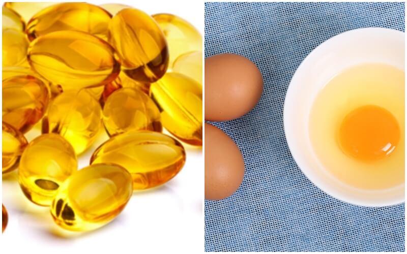 Trị mụn và dưỡng trắng bằng vitamin E cùng trứng gà