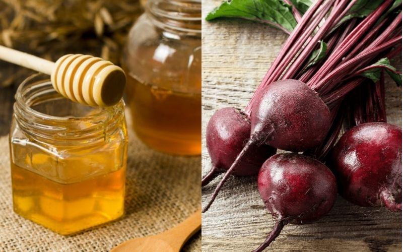 Cách trị thâm môi bằng củ dền và mật ong
