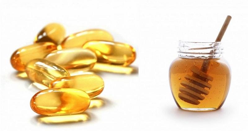 Bôi vitamin E và mật ong trị thâm môi