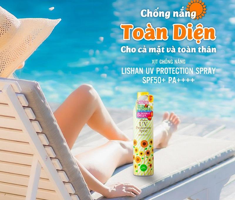 Thành phần xịt chống nắng Lishan Aroma